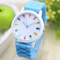 Drop Shipping Hot Sale Classic Style Geneva Silicone Jelly Watch Women Fashion Casual Beautiful Color Quartz Watch Wristwatch