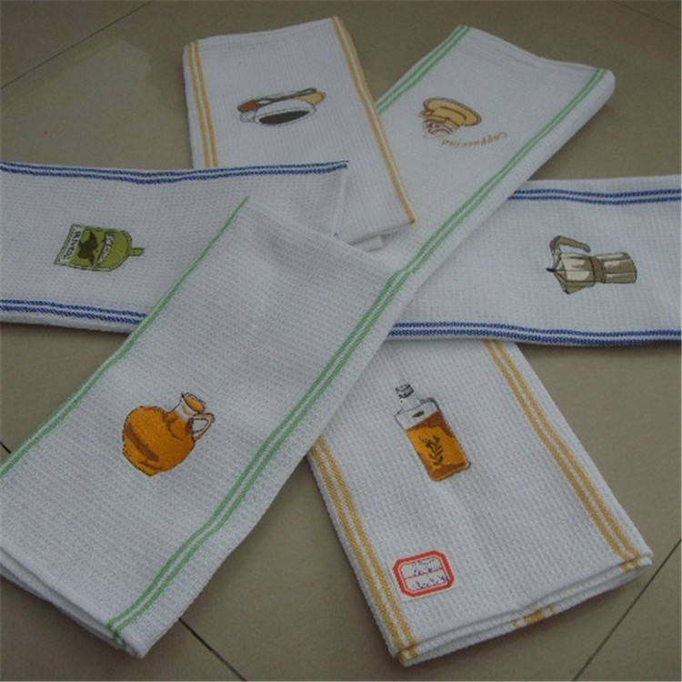 Wholesale Cheap Embroidered Cotton Plain White Tea Towel