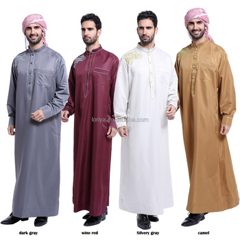 Hot sale muslim dress wholesale price men's abaya new design fashion islamic clothing men abaya in dubai