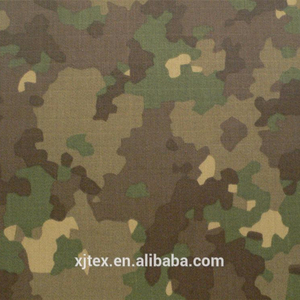 1000D cordura camouflage fabric with water-proof and PU coating