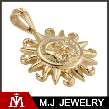 Mens stainless steel real gold tone pendants tribal sun pendants mens stainless steel real gold tone pendants tribal sun pendants aloadofball Choice Image