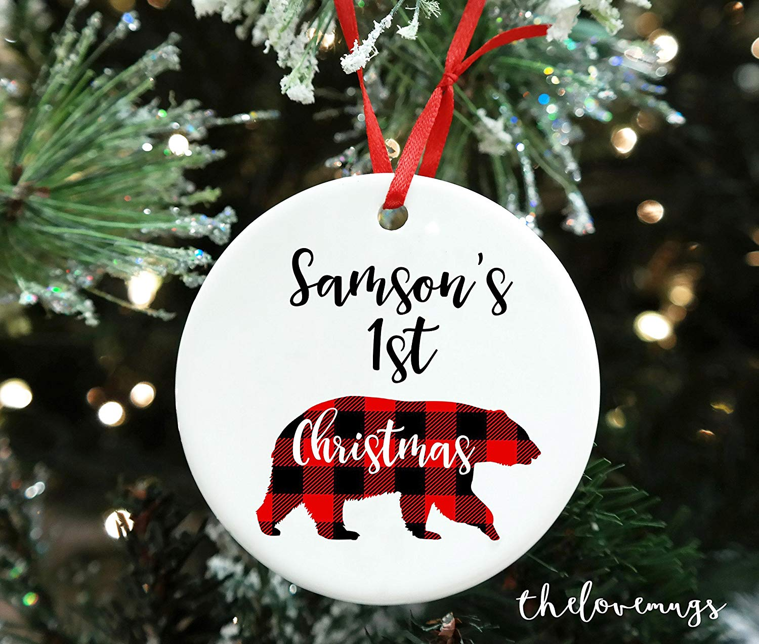Baby's First Christmas Ornament 2017, First Christmas Ornament, Personalized Christmas Ornament, Baby Boy Gift, First Christmas Boy