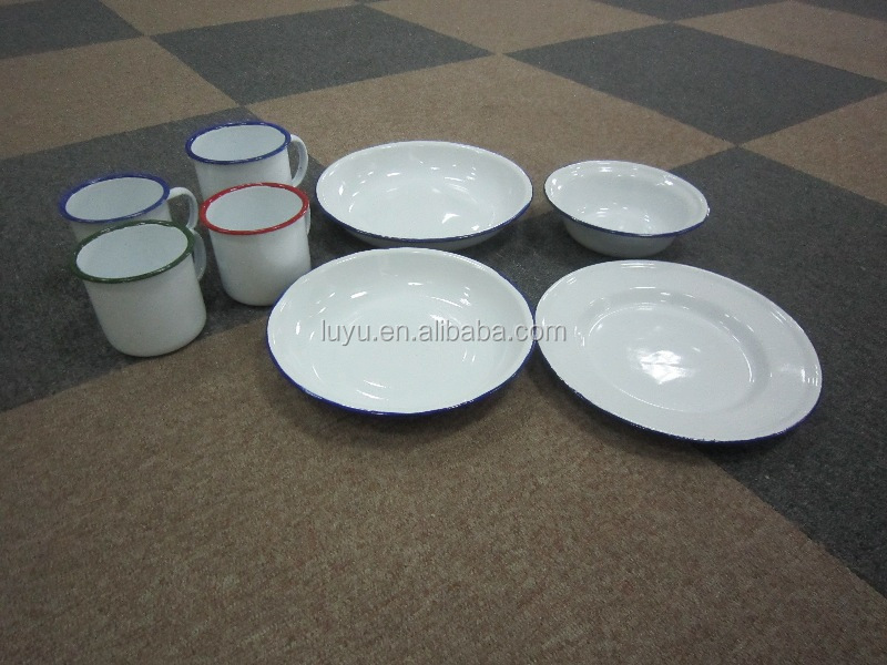 High Quality Enamel Mugsplatesbowls For Camping Dinnerware Stock Lot To European And