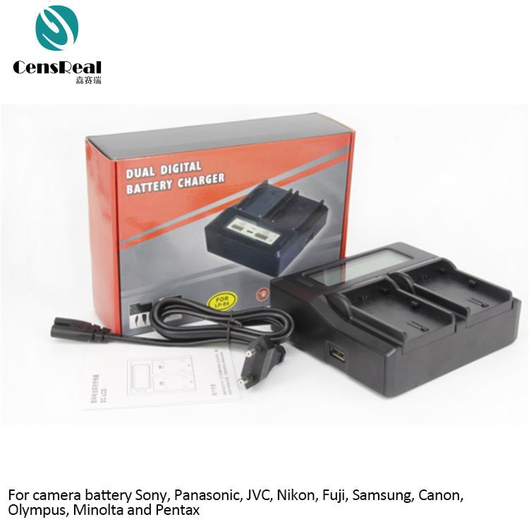 Lp-e5 Battery + Double Charger Lc-e5e For Canon Eos 450d