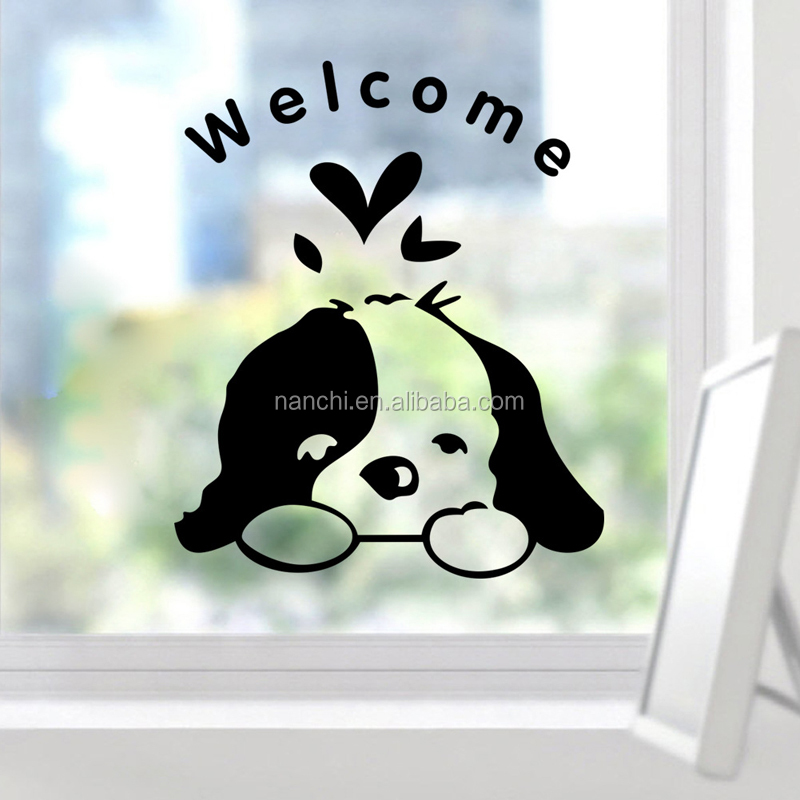 Cartoon cute dog switch stickers decorate mobile phone car toilet decoration removable vinyl wallpaper