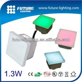 Höchster Qualität 100x100mm 1 3w Rgb Outdoor Landschaftsbau Licht Glasbausteinen Led Für Stock