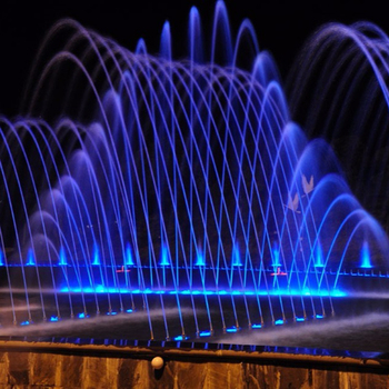 Large Plaza Modern Garden Fountain With Led Lights