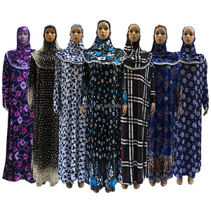 18AP1303 Head Coverings instant hijab bonnet abaya muslims outwear muslim prayer dress islamic dresses hijab dress