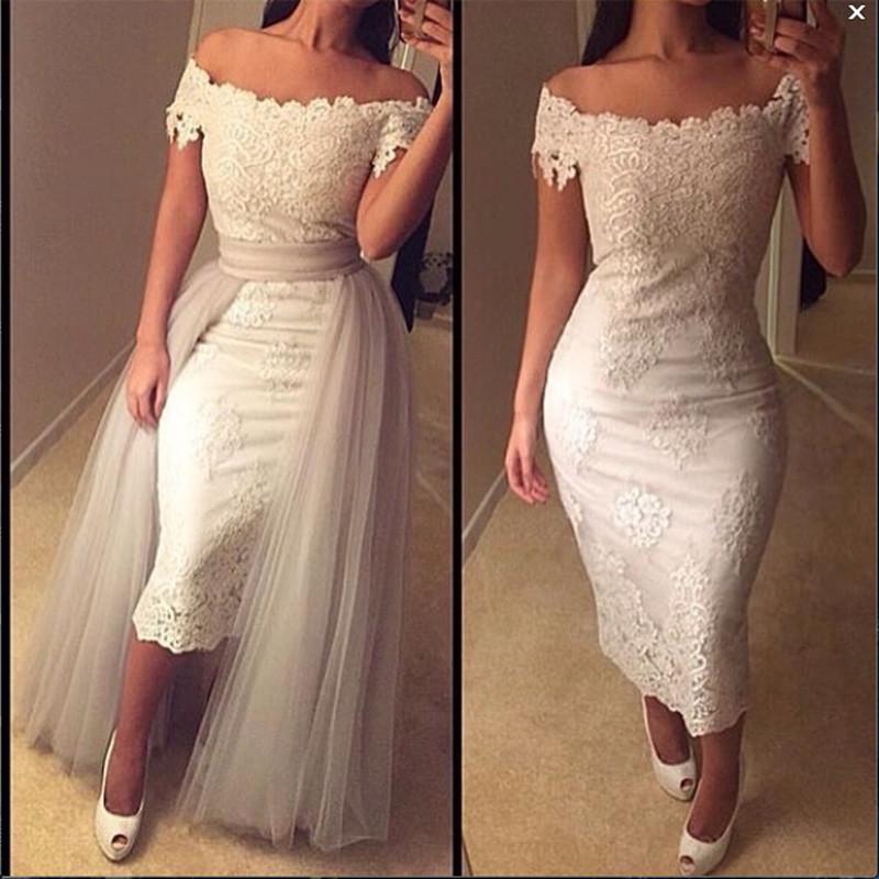 Robe De Soriee New Simple Wedding Dress Full Sleeve Lace: Robe De Soiree Custom Size Vestido 2016 Simple Lace