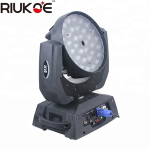 Wireless wedding decorating light led wash 36*18w 6in1 moving head zoom