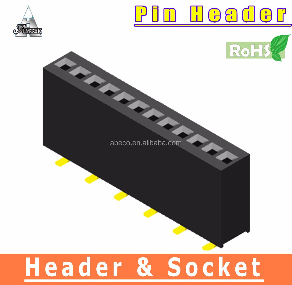 High Quality SMT Connector 1.27mm pitch Female Header
