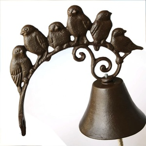 vintage birds decorative cast iron door bell for garden decoration