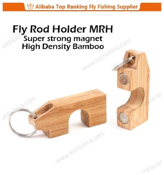 Strong Magnet Bamboo Magnetic Closet Fishing Rod Holder