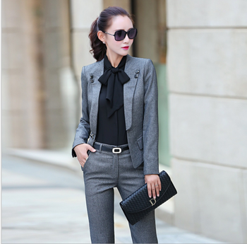 3ab8c4a4e978 New Fashion Women s Casual Floral Print Blazer Suit Ladies Long ...