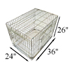Deluxe folding gold metal Dog Puppy Cage with bedding