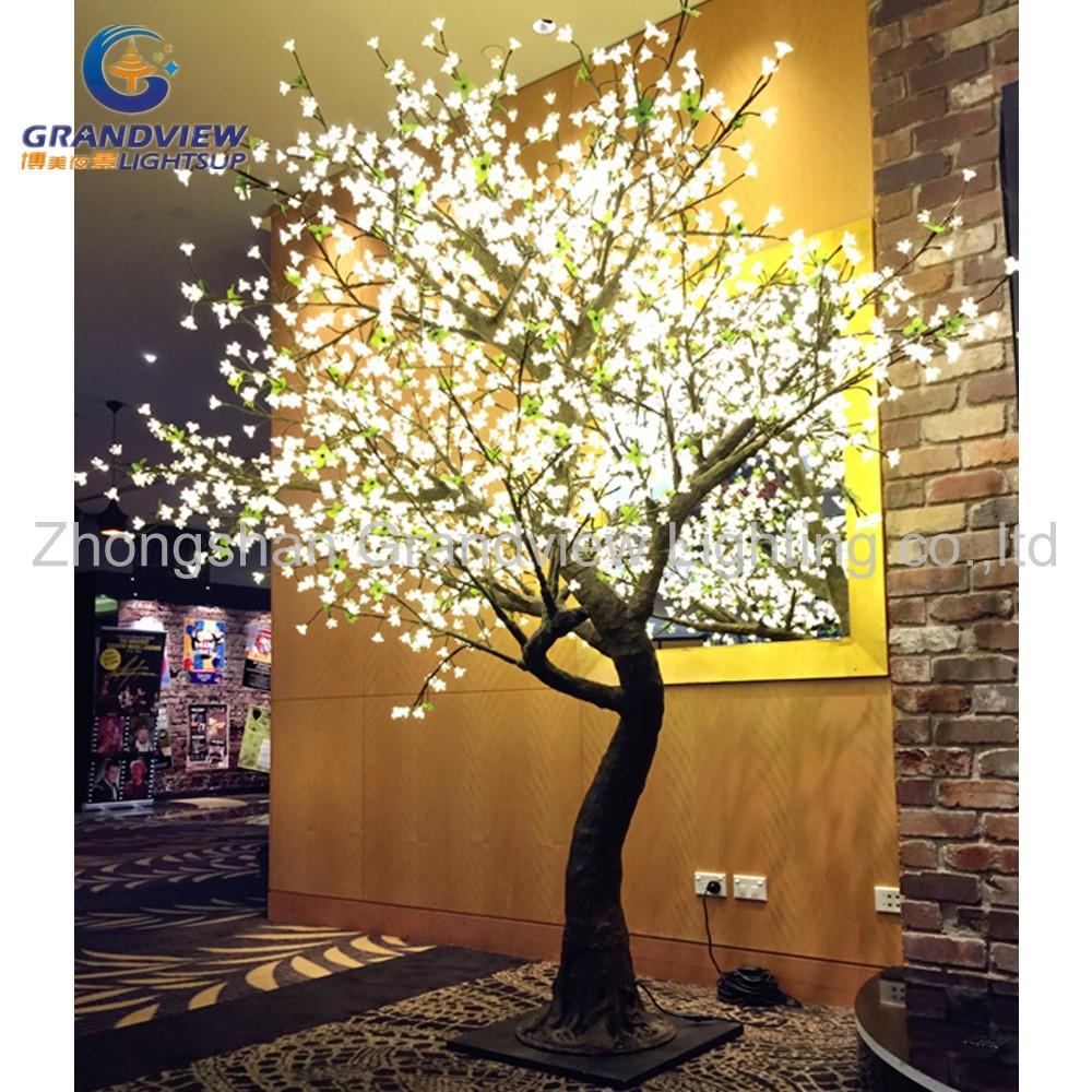 85e1acdb426 LED impermeable al aire libre del LED flor de cerezo musical rama del árbol  de Navidad