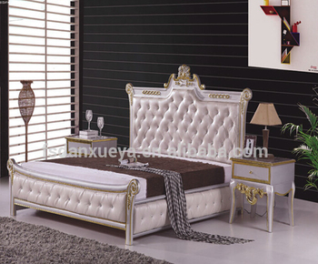 2015 Heißer-verkäufe Pu Leder Bett/weiß Leder Betten/schlafzimmer Bett -  Buy Günstige Weiß Leder Bett,Creme Weiß Leder Bett,Luxus Weiß Leder Bett ...