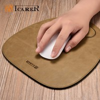 Custom Printed Gaming Genuine Leather Round Mouse Pad