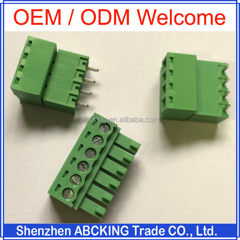 Factory Cutsom 2 3 4 5 6 7 10 Pin Screwed Pluggable 3.50 3.81 5.08 7.50 7.62mm PCB Terminal Block