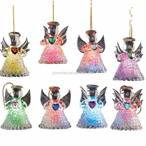 2018 new arrival glass christmas angel