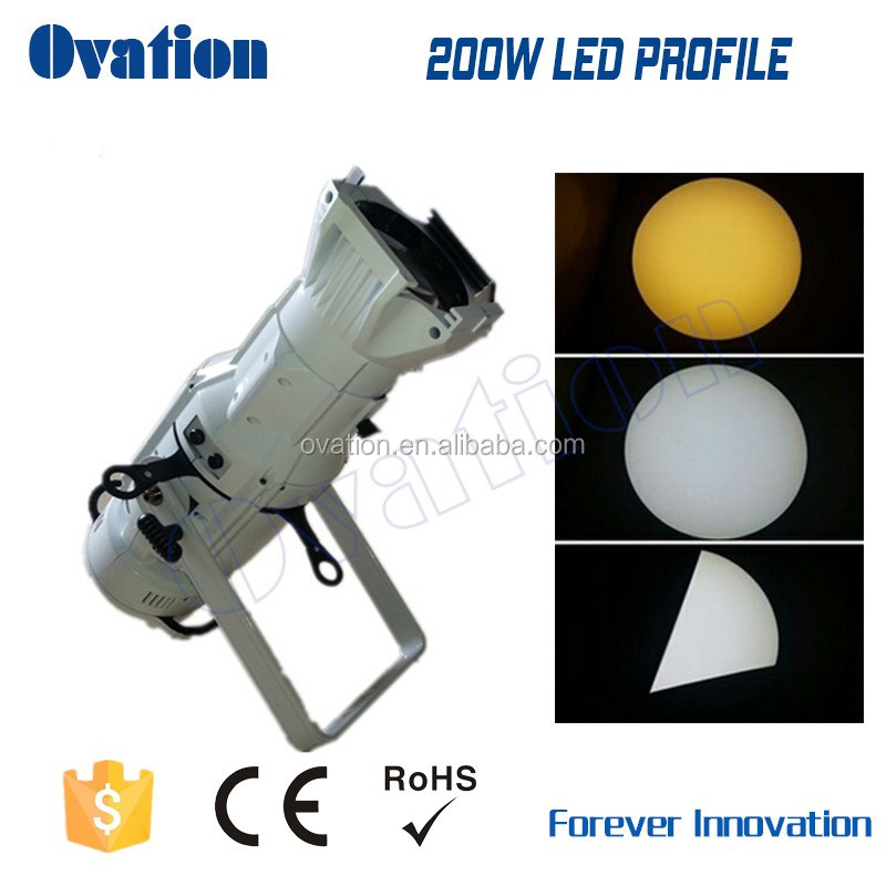 200W LED profile Spot with single white/2in1/RGB 3in1 optional 200w 2in1 LED Spot Light theater light with high CRI