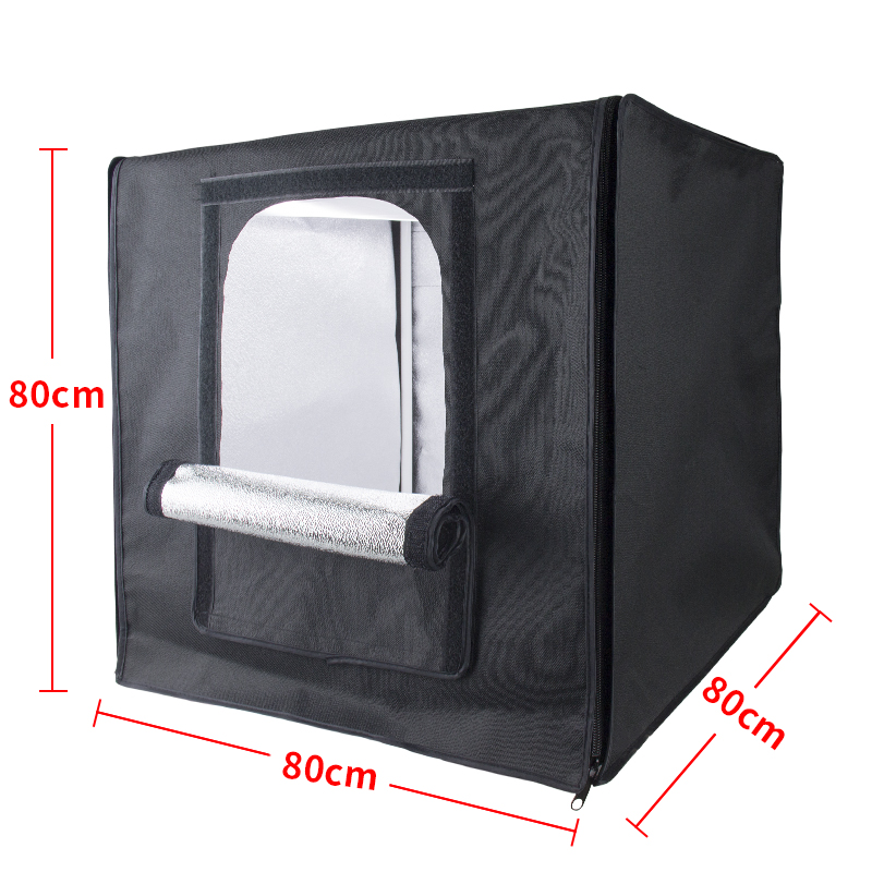 Professionele fotografie draagbare LED photo studio light box, 80*80*80 cm, met draagtas