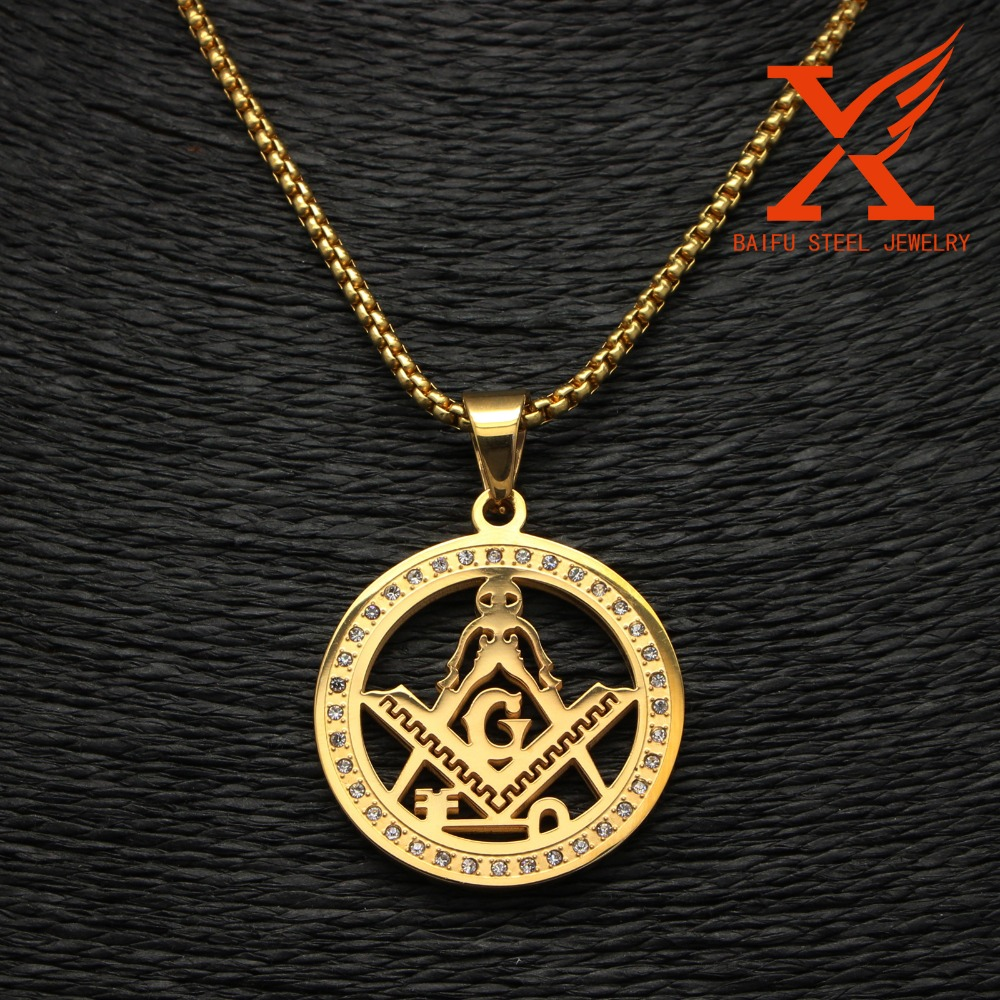 Cheapest Best Selling 2016 Factory Fashion Jewelry Wholesale Antique Gold Masonic Pendant
