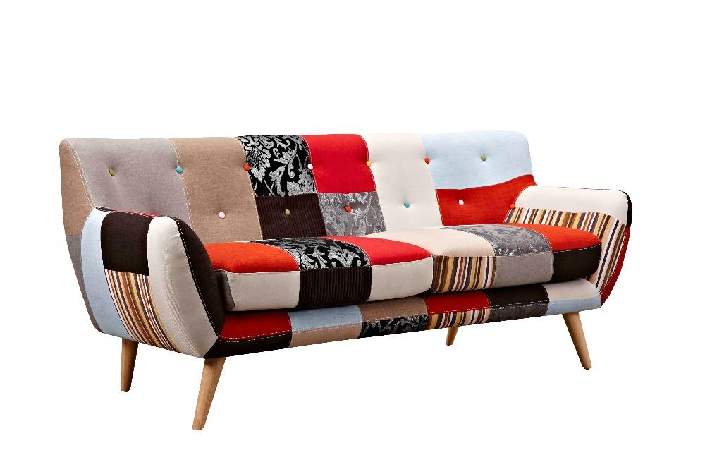 Divano Letto Patchwork : Moderno soggiorno divano in tessuto patchwork my buy divano
