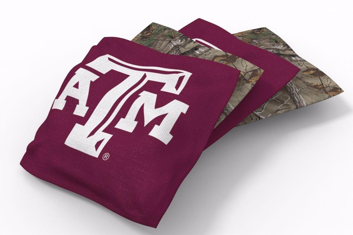 Texas A&M Aggies RealTree Camo Bean Bags-4pk (B)