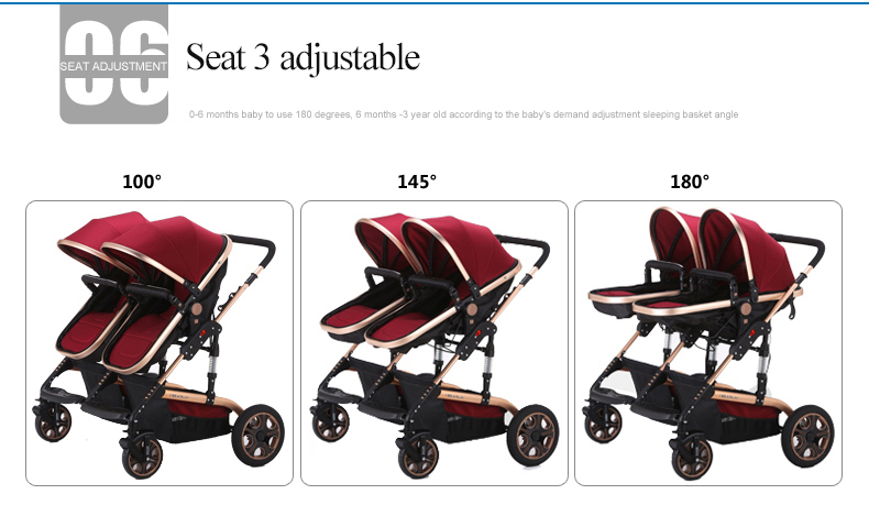 2018 popular twin baby stroller YBL with factory price double doll stroller