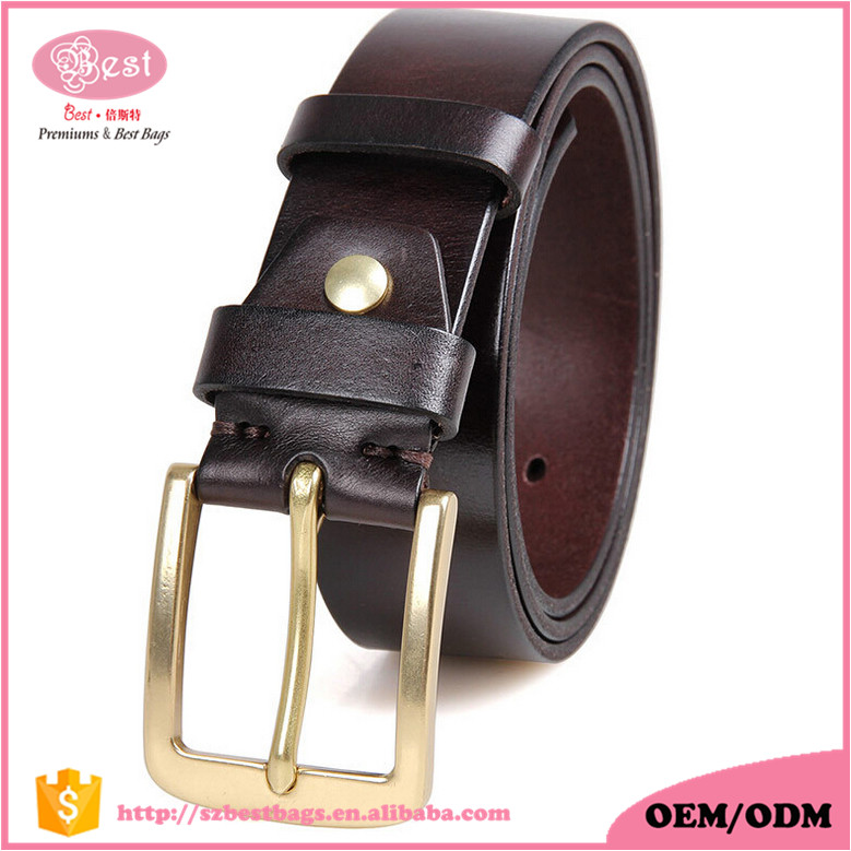 Low MOQ Hot Sell Handmade 100% Italian High Quality Pure Leather Pin Buckle Men Leather <strong>Belt</strong>