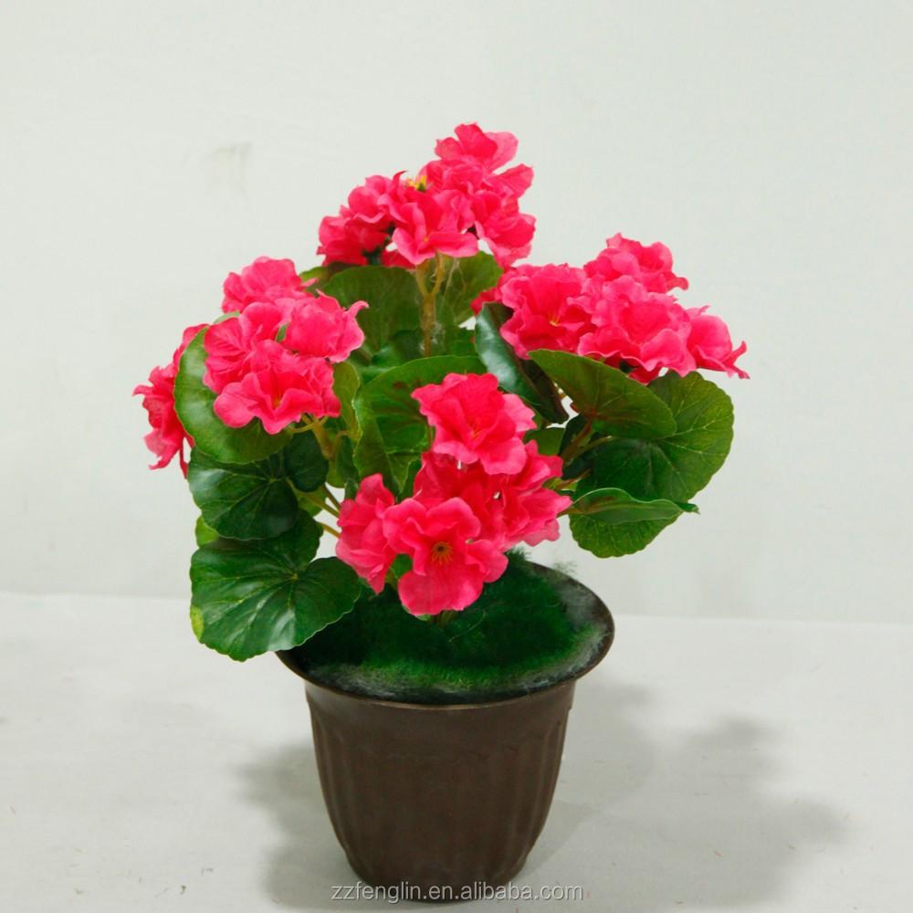 mariage fleur artificielle d corative gros rose rouge artificielle begonia fleur bouquet fleurs. Black Bedroom Furniture Sets. Home Design Ideas