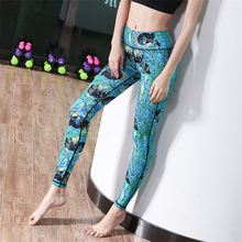 Sublimatie Print <span class=keywords><strong>Dames</strong></span> Gym Tights Running Broek Vrouwen Hoge Taille Yoga Broek