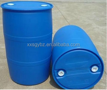 closed mouth empty plastic drums with two upper lids 200liter
