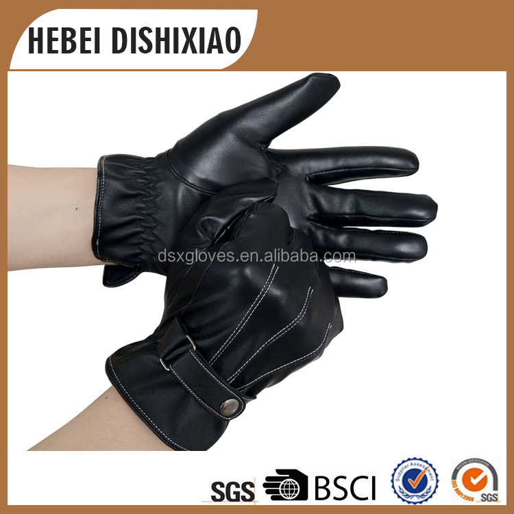 Manufacture Supply Hot Sales Cheap Fur Lined Leather <strong>Gloves</strong> For Men And Women