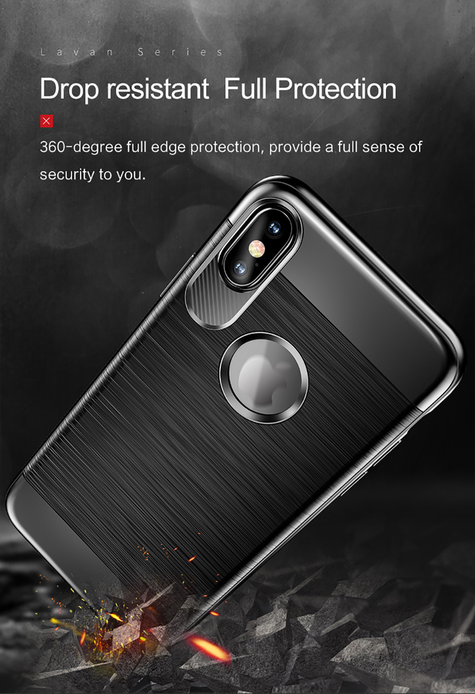 USAMS LW001 Free Shipping Cheap Price Back Cover Square TPU phone case For Iphone X