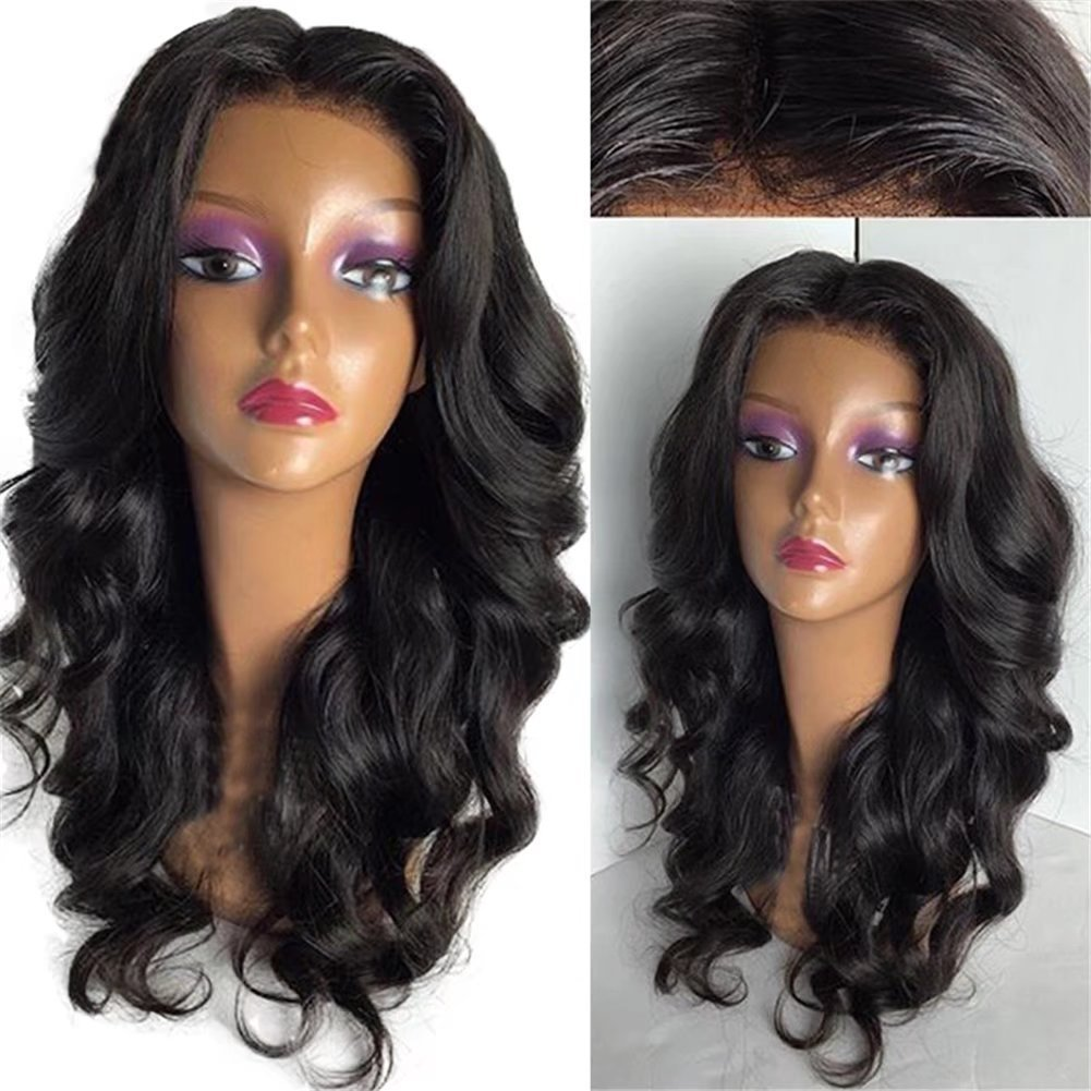 3231f94cadc9 Get Quotations · Oulaer 5X4.5 Silk Base Brazilain Lace Wigs Human Hair With  Baby Hair Natural Hairline