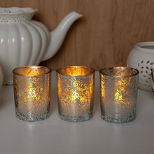 wholesale mercury and copper glass candle jars