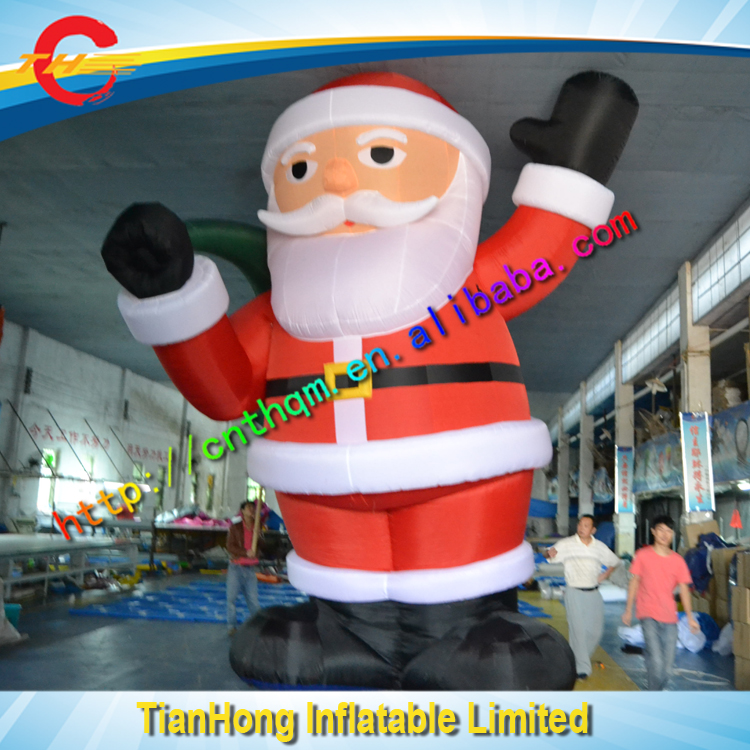 Free express shipping <strong>inflatable</strong> christmas santa claus / cheap christmas <strong>inflatables</strong> 4m high <strong>inflatable</strong> Xmas Father