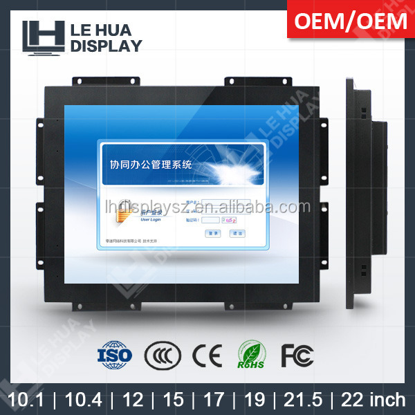 double sided touch screen computer monitor of open frame lcd monitor with DVI VGA input