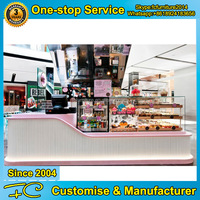 Bakery showcase modern cake store bakery display counter