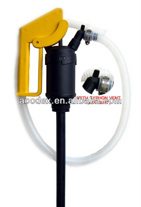 Polypro Lever Acting Drum Pump With Siphon Vent Transfer Petrol, Diesel, Kerosene, acid, alkaline and chemical