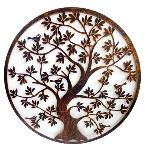 laser cut hanging tree metal wall art decor
