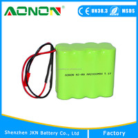 nimh aaa 9.6v 800mah rechargeable battery pack for slaes