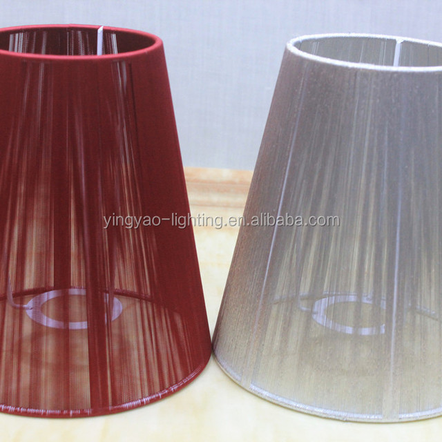 Promocin organza laacutempara sombra compras online de organza red color thread wrapped light organza small taper lamp shades for bar aloadofball Choice Image