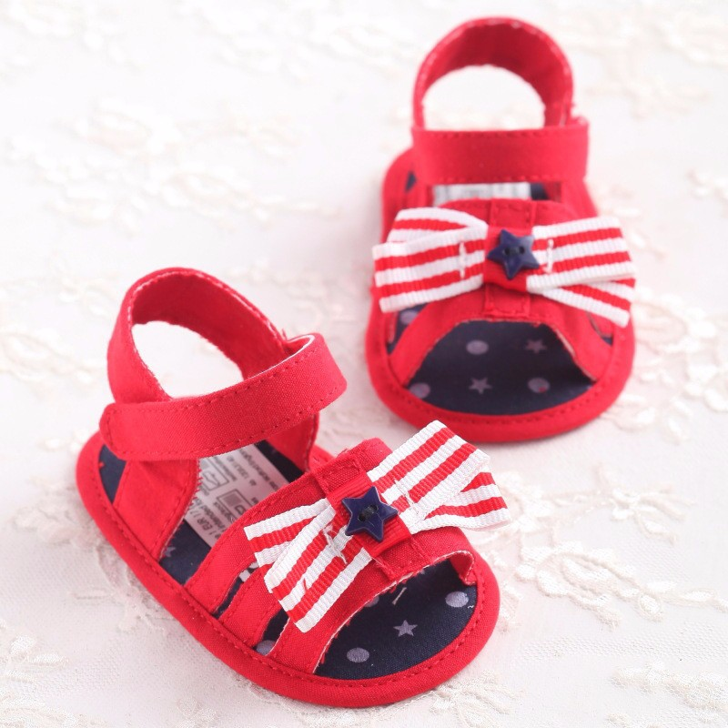 Cute Sweet Fashion Mary Janes Newborn Baby Kids First Walkers Shoes Summer Princess Toddler Bow Soft Bottom Anti-slip Sandals