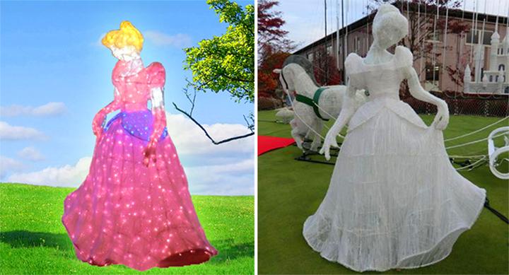 Acrylic sculptures led decoration light for festival