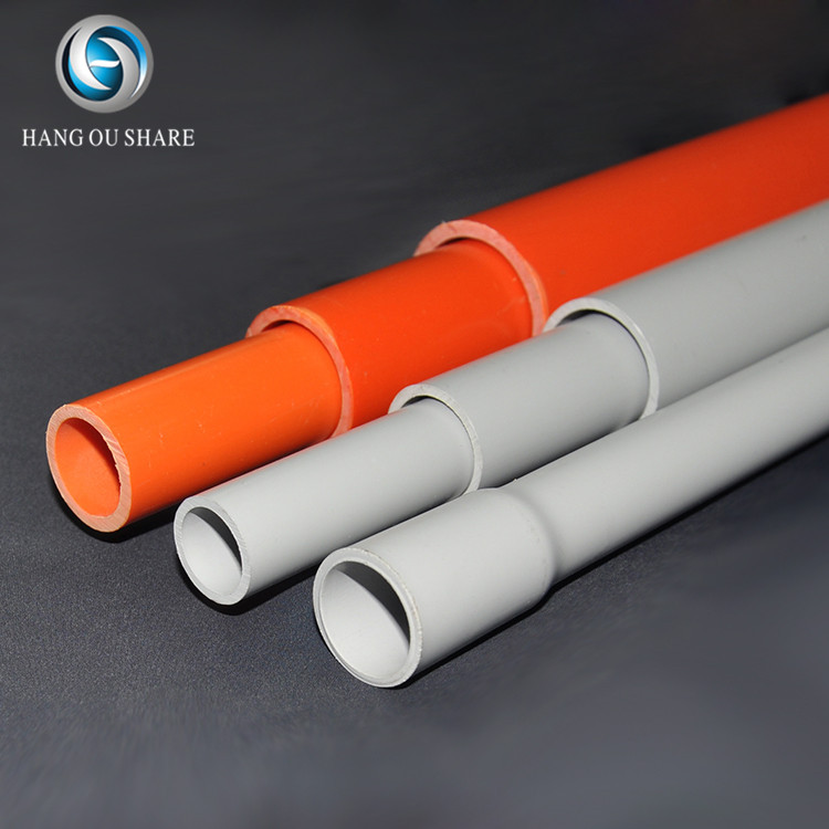 Popular new producing orange and grey pipe low price durable conduit