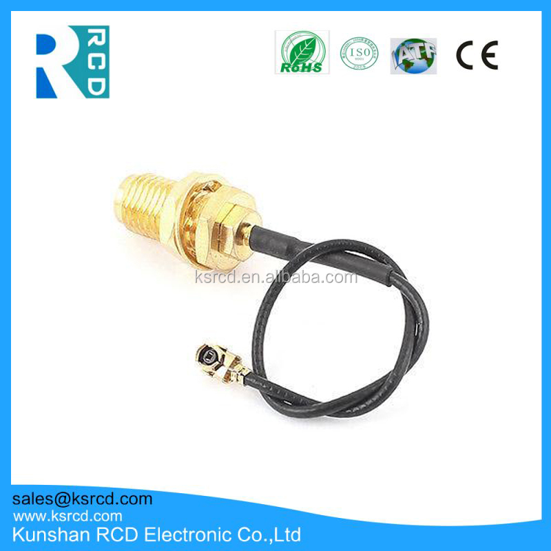 Free Sample Factory Price RF Cable Assembly SMA To I-pex Waterproof Connector RF Pigtail Cable