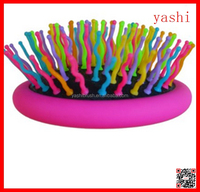 YASHI Best Detangling Brush Set Rainbow Air Volume Brush With Back Mirror in 2016